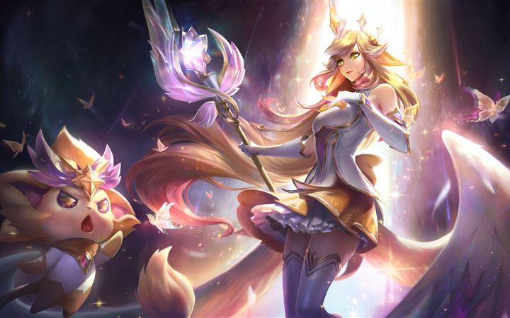 soraka league of legends 8k iMac wallpaper