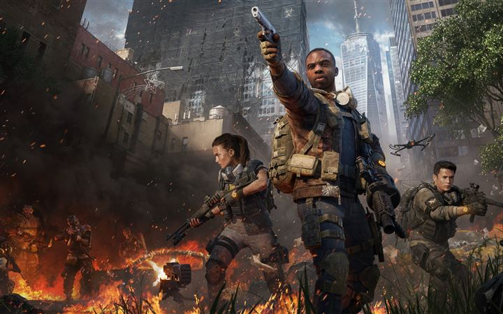 tom clanycs the division 2 warlords of new york 8k iMac wallpaper