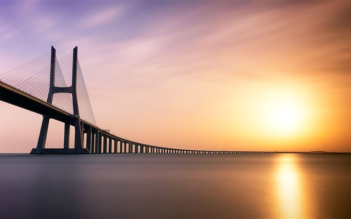 vasco da gama bridge 5k iMac wallpaper