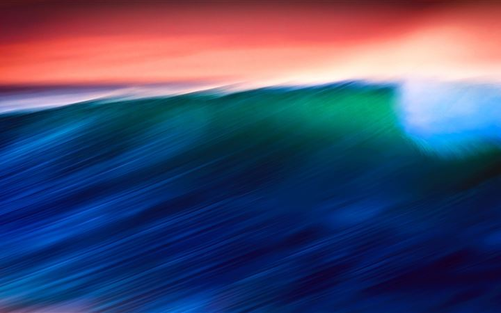 waves abstract 5k iMac wallpaper