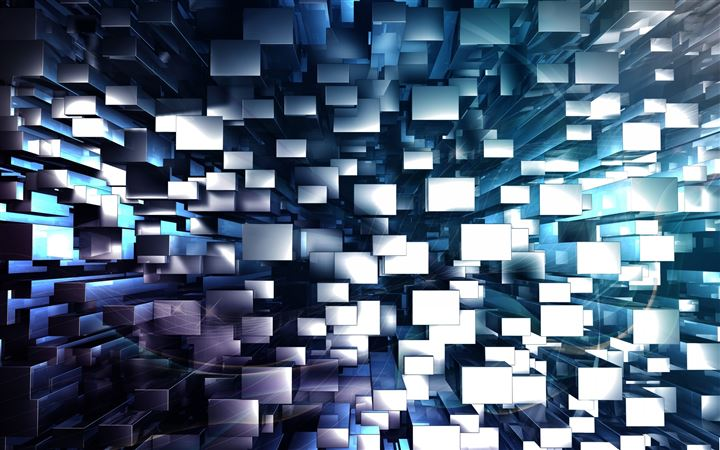 3D Geometric Background All Mac wallpaper
