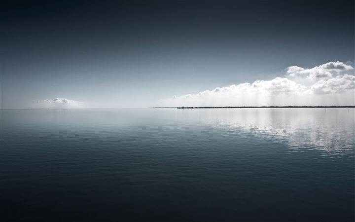 Clouds lake sea All Mac wallpaper