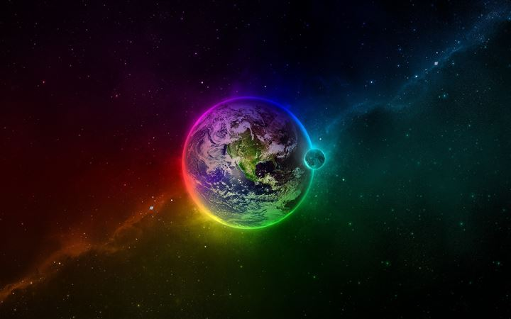 Colorful Earth All Mac wallpaper