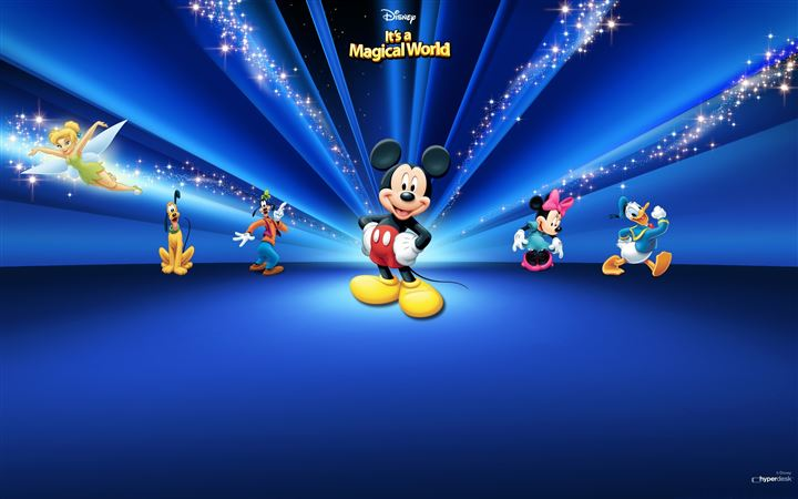Disney  Characters Dark Blue All Mac wallpaper
