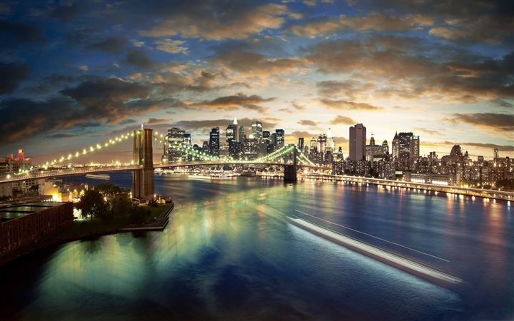 New York City Brooklyn Bridge View All Mac wallpaper