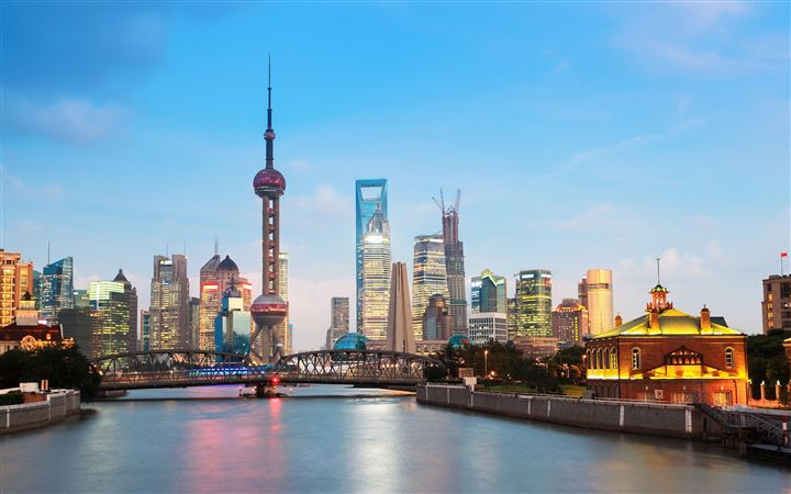Shanghai Cityscape All Mac wallpaper