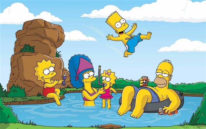 The Simpsons Summer Vacation All Mac wallpaper