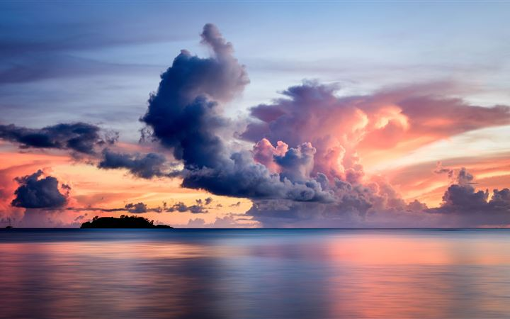 clouds over the sea 8k All Mac wallpaper