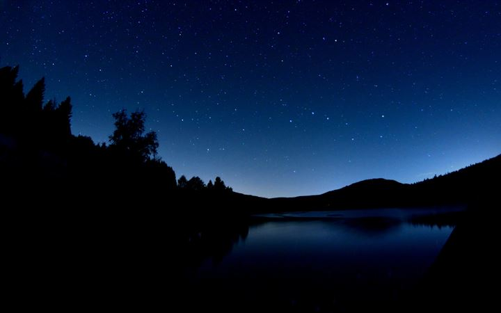 dark blue evening All Mac wallpaper