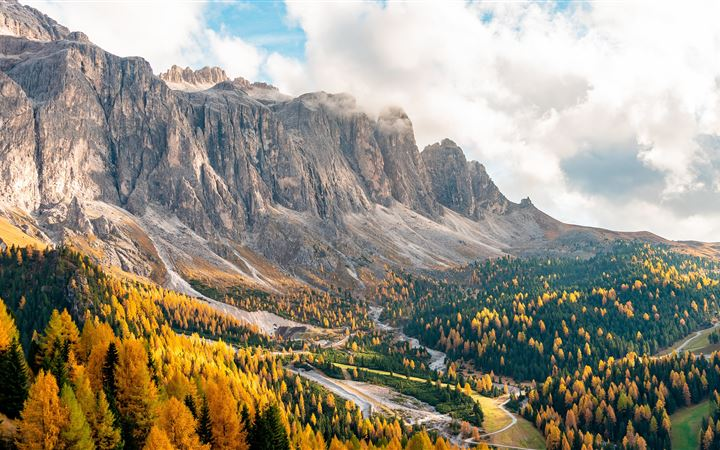 gardena pass in italy 5k All Mac wallpaper