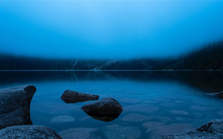 morskie oko poln calm lake in the mountains 5k All Mac wallpaper