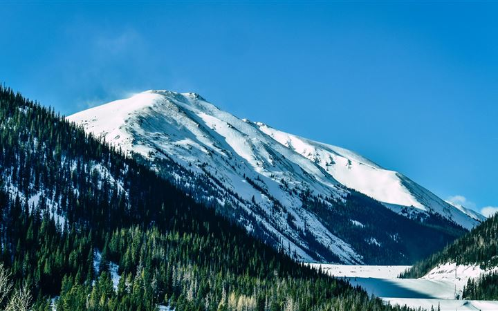 snow capped mountains daylight 5k All Mac wallpaper