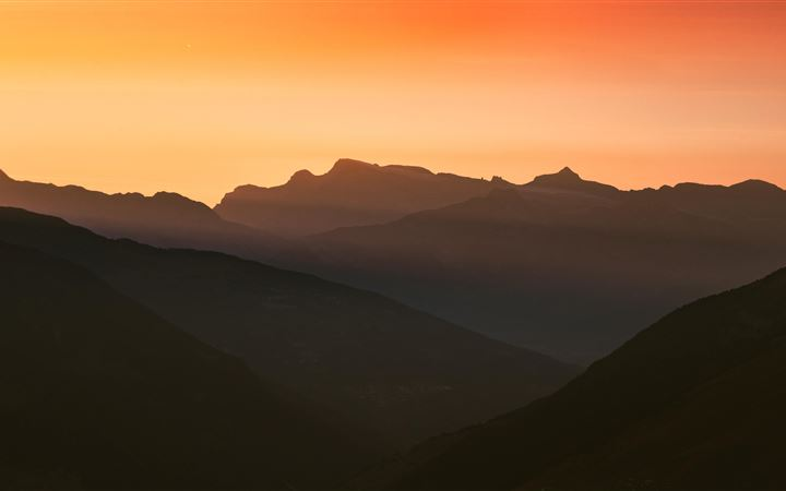 swiss alps cold mountains silhouette 5k All Mac wallpaper
