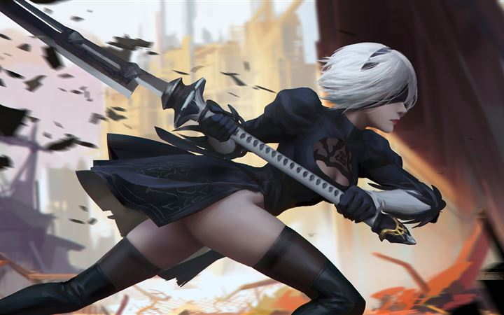 2b nier automata 2020 5k All Mac wallpaper