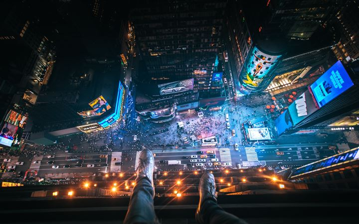 Above Time Square. All Mac wallpaper