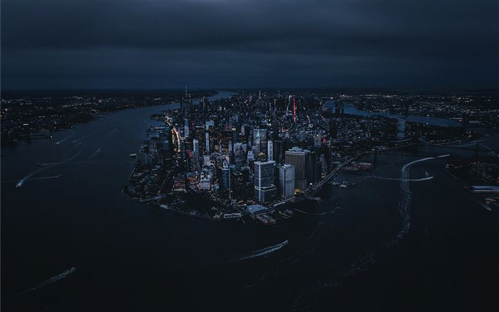 Above the Big Apple. All Mac wallpaper