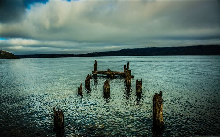An Old Dock In The Lake All Mac wallpaper