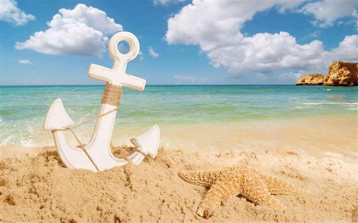 Anchor On The Beach All Mac wallpaper