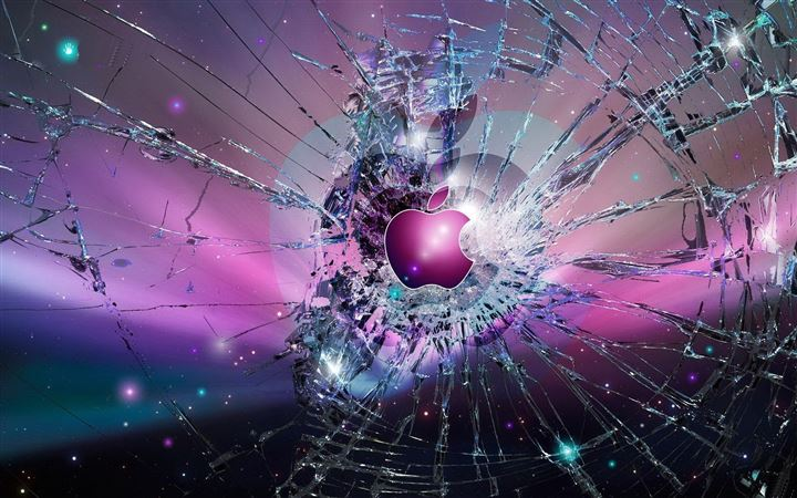 Apple Logo Broken Glass All Mac wallpaper