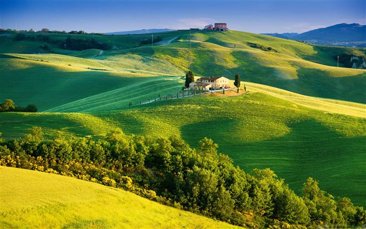 Beautiful Tuscany Landscape All Mac wallpaper