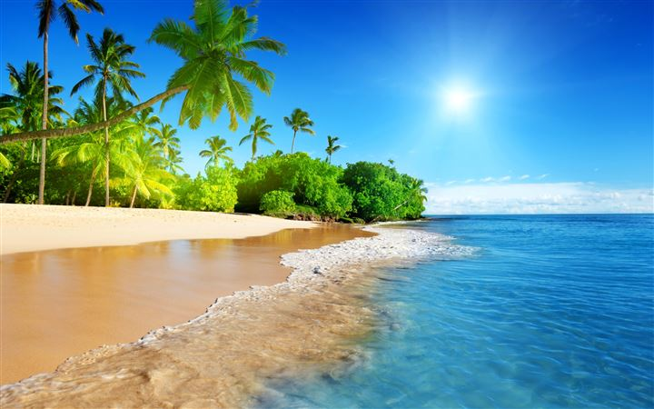 Beautiful beach All Mac wallpaper