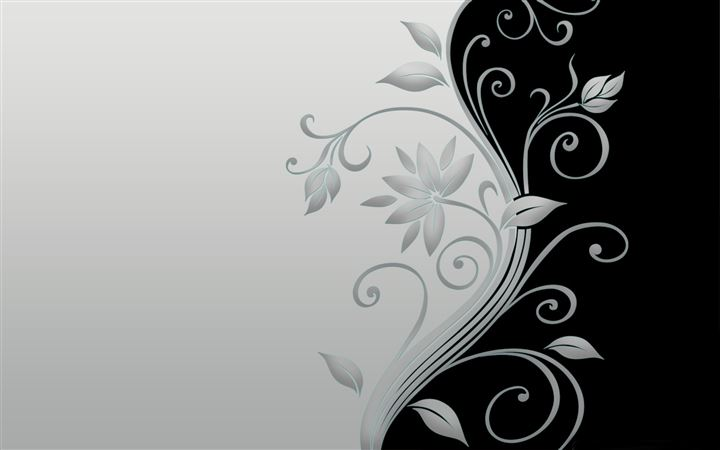 Beautiful vector flowers All Mac wallpaper