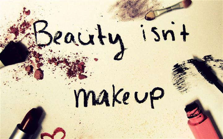 Beauty Is Not Make Up All Mac wallpaper