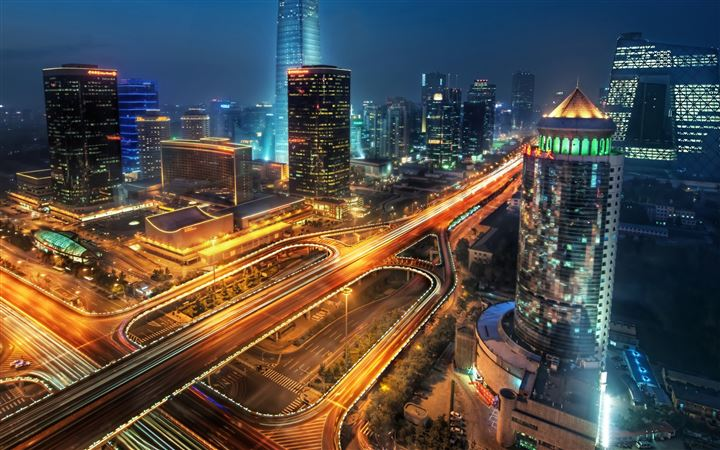 Beijing At Night China MacBook Air wallpaper
