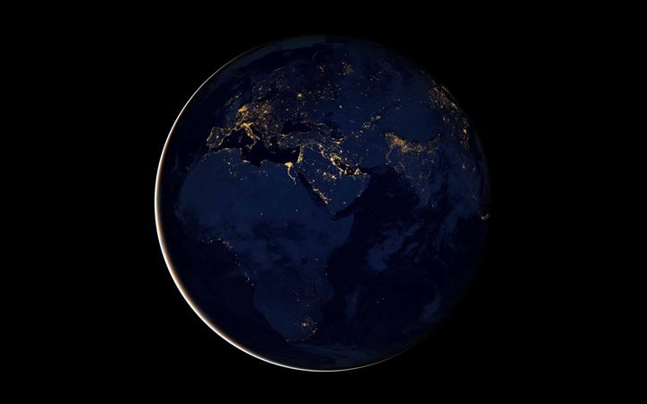 Black Marble Africa Europe MacBook Air wallpaper