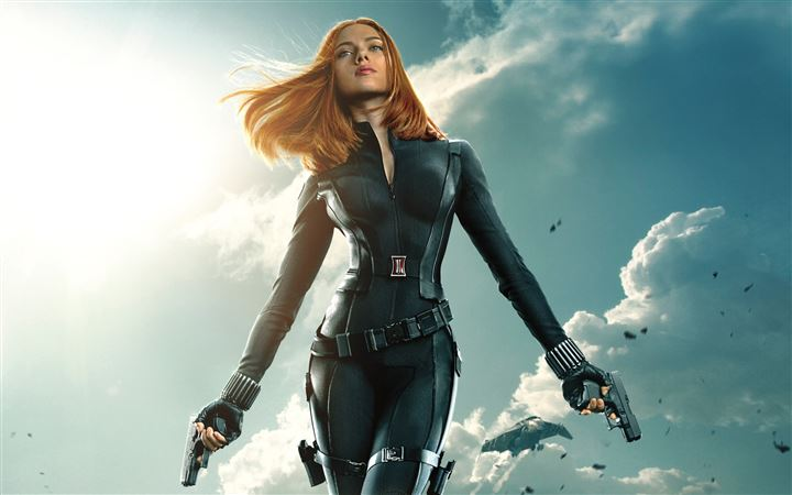Black Widow In Captain America The Winter Soldier All Mac wallpaper