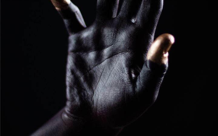 Black space palm hand wit... All Mac wallpaper