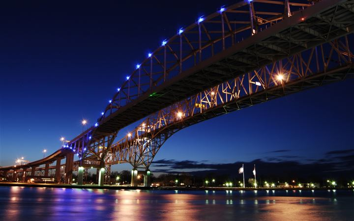Blue Water Bridge All Mac wallpaper