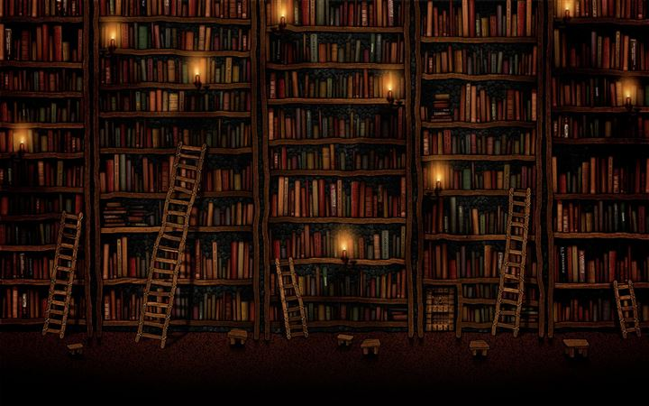 Bookshelves All Mac wallpaper