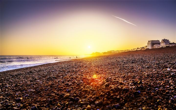 Brighton Beach Sunset All Mac wallpaper