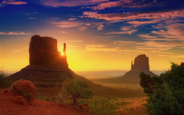 Canyon Sunrise All Mac wallpaper