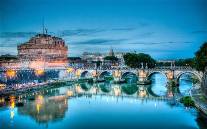 Castel santangelo rome All Mac wallpaper