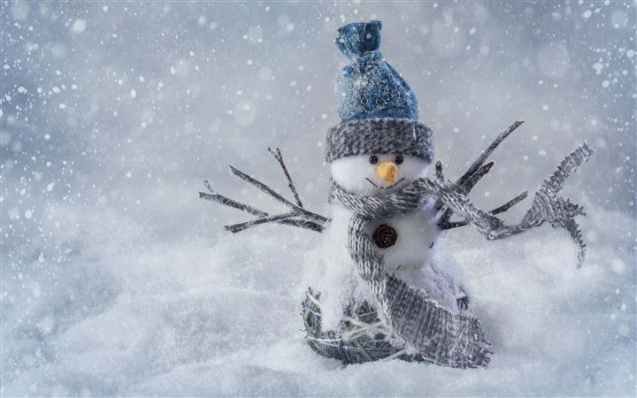 Christmas Snowman Craft All Mac wallpaper