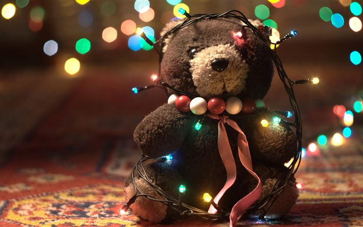 Christmas teddy bear All Mac wallpaper