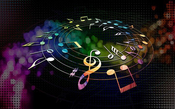 Colorful Musical Notes All Mac wallpaper