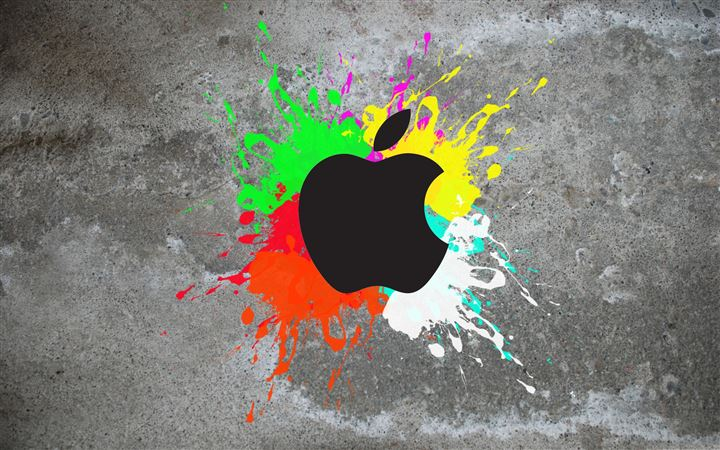 Colorful apple MacBook Air wallpaper