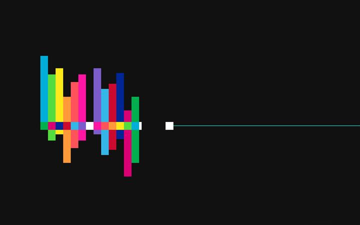 Colorful sound waves All Mac wallpaper