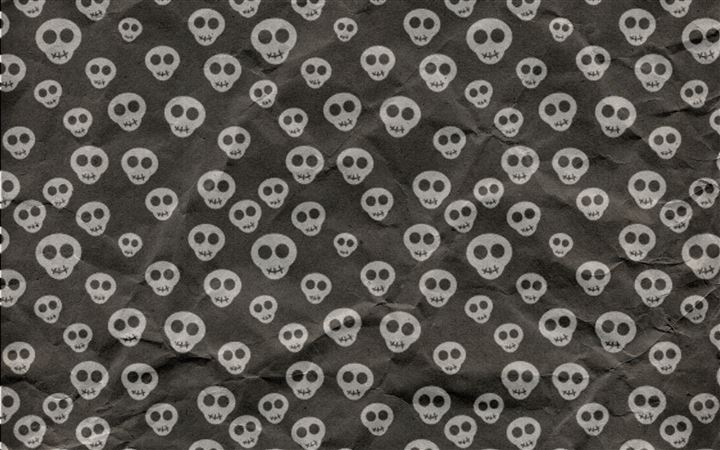 Cute Skulls Wrapping Paper All Mac wallpaper