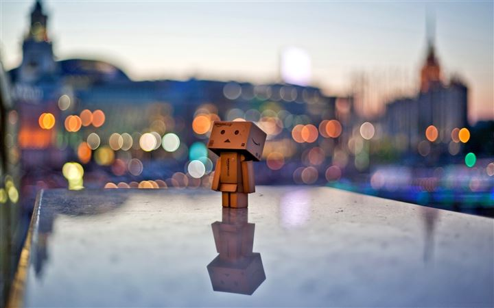 Danbo In The City All Mac wallpaper