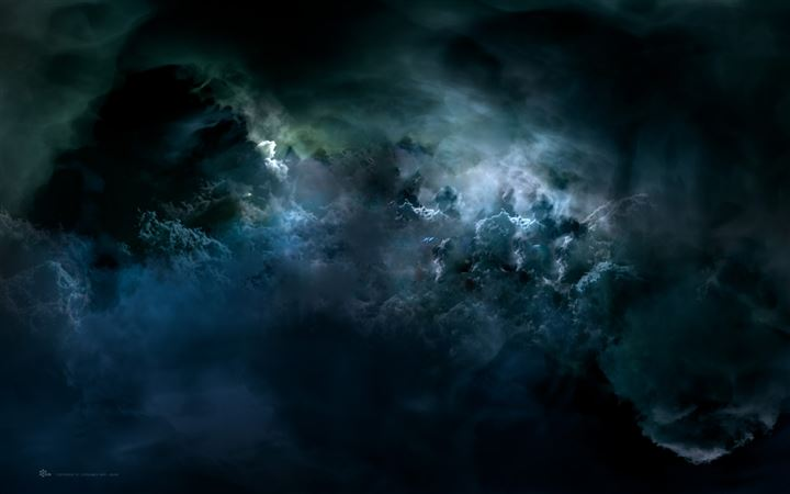 Darkness outer space All Mac wallpaper