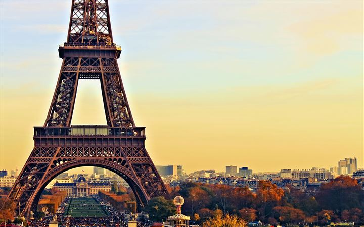 Eiffel Tower Paris City Night All Mac wallpaper
