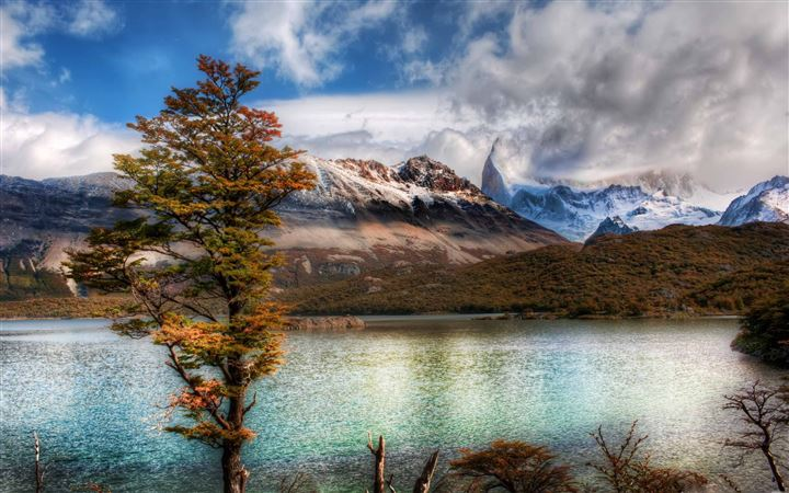 Emerald Lake In The Andes All Mac wallpaper