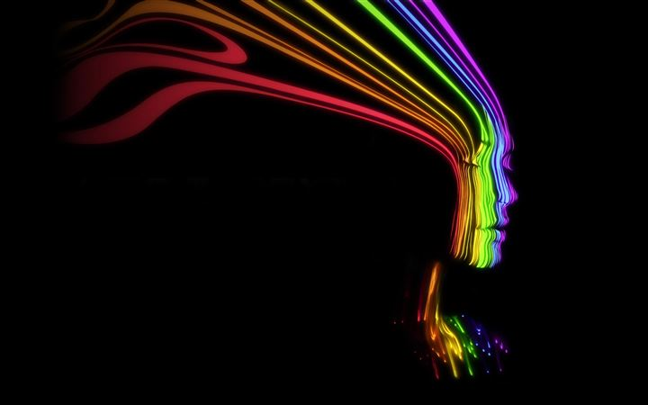 Face Shaped Rainbow Lines All Mac wallpaper
