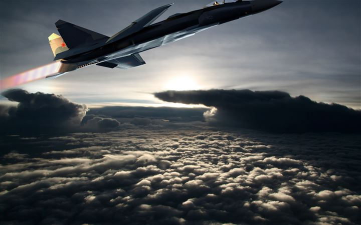 Fighter aircraft MacBook Air wallpaper