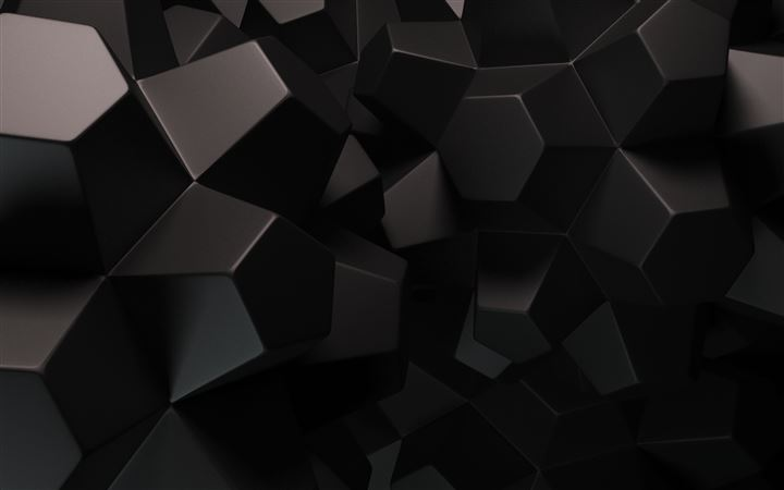 Geometric Shapes 3D All Mac wallpaper