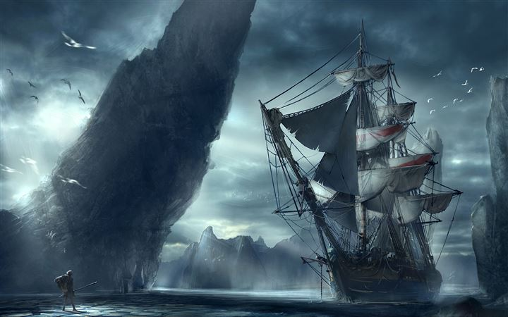 Ghost Ship MacBook Air wallpaper